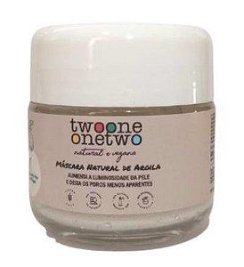 Twoone Onetwo Máscara Facial Natural com Argila Branca 60g