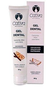 Cativa Natureza Gel Dental Laranja com Canela 80g
