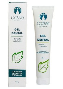 Cativa Natureza Gel Dental Menta 80g