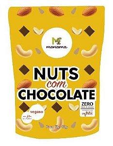 Monama Snack Nuts com Chocolate Zero Açúcar 40g