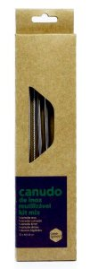 Beegreen Kit Mix 4 Canudos Reutilizáveis de Inox (Reto, Curvado, Drink e Shake) + Escova de Limpeza