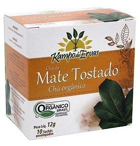 Kampo de Ervas Chá Mate Tostado Orgânico Caixa 10 Sachês