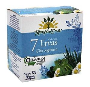 Kampo de Ervas Chá Misto 7 Ervas Orgânico Caixa 10 Sachês