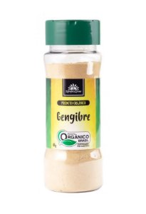 Kampo de Ervas Gengibre em Pó Condimento Puro Orgânico 50g