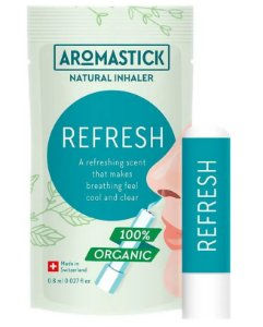AromaStick Inalador Nasal Natural Refresh - Refrescante e Expectorante 1un