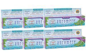 Auromere Kit Mint-Free Creme Dental Ayurvédico 6un
