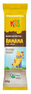 Monama Kids Barrinha de Frutas Orgânica Aveia, Banana e Cacau