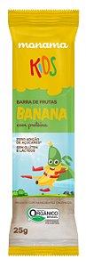 Monama Kids Barrinha de Frutas Orgânica Aveia e Banana com Proteínas
