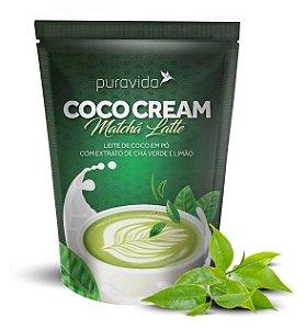 Puravida Coco Cream Matchá Latte - Leite de Coco em Pó com Chá Verde e Limão
