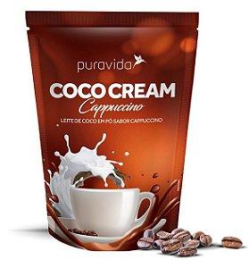 Puravida Coco Cream Cappuccino - Leite de Coco em Pó com Café, Chocolate e Canela