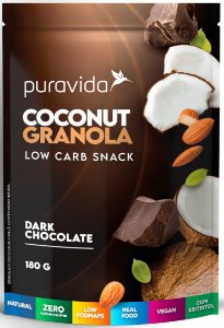 Puravida Coconut Granola Low Carb Dark Chocolate 180g