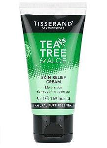 Tisserand Tea Tree e Aloe Skin Relief Cream - Creme Calmante da Pele 50ml