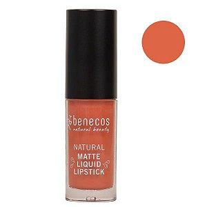 Benecos Batom Líquido Matte Liquid Lipstick Coral Kiss 5ml