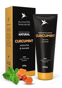 Puravida Creme Dental Natural Curcumint - Cúrcuma e Hortelã 120g