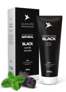 Puravida Creme Dental Natural Black - Carvão Ativado e Hortelã 120g