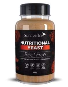 Puravida Nutritional Yeast Beef Free - Tempero Vegano Sabor Carne 120g