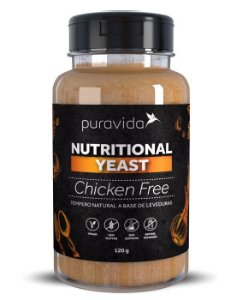 Puravida Nutritional Yeast Chicken Free - Tempero Vegano Sabor Frango 120g