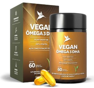 Puravida Vegan Ômega 3 DHA (500mg) - 60 Cápsulas Veganas