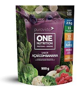 Puravida One Nutrition - Proteínas Vegetais Sabor Açaí com Banana