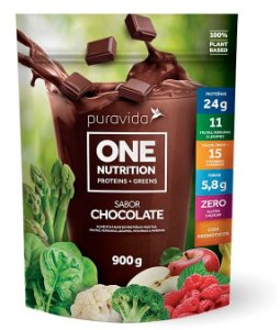 Puravida One Nutrition - Proteínas Vegetais Sabor Chocolate