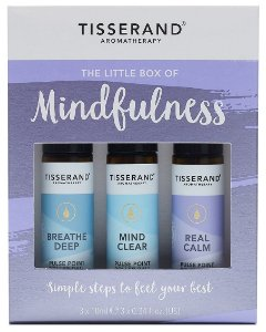 Tisserand Little Box of Mindfulness - Kit Serenidade e Atenção Plena com 3 Roll-ons Aromaterápicos