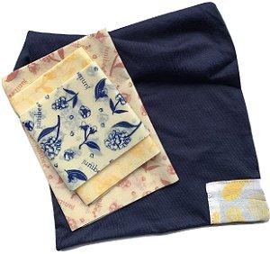 Junibee Kit Embalagens Wrap Reutilizáveis + Saquinho de Algodão 4uns