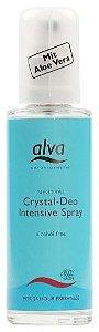 Desodorante Spray Orgânico Crystal Deo Intensive com Aloe Vera, Hamamélis e Confrei 75ml - Alva