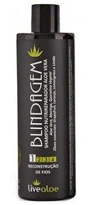 Shampoo Nutrireparador de Aloe Vera - Blindagem 500ml - Livealoe