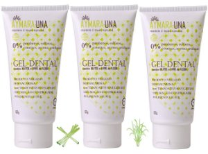 Aymara-Una Gel Dental Natural Capim Limão - Kit c/ 3 uns