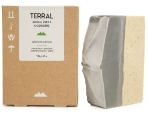Terral Natural Sabonete Nutritivo Argila Preta e Gengibre 130g