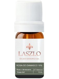 Laszlo Óleo Essencial de Rosa de Damasco Diluído 10% GT Marrocos 10ml