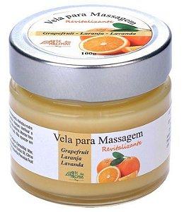Arte dos Aromas Vela para Massagem Revitalizante com Óleos Essenciais 100g