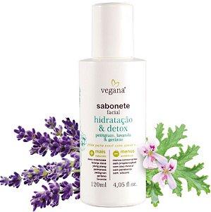 Vegana Sabonete Facial Hidratação & Detox 120ml