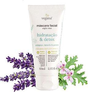 Vegana Máscara Facial Hidratação & Detox 60ml