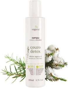 Vegana Xampu Antioleosidade Couro Detox 200ml