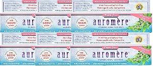 Auromere Kit Creme Dental Ayurvédico Foam-Free - Erva Doce e Cardamomo 6un