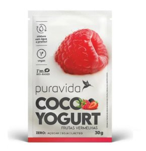 Puravida Coco Yogurt Frutas Vermelhas - Iogurte Vegano