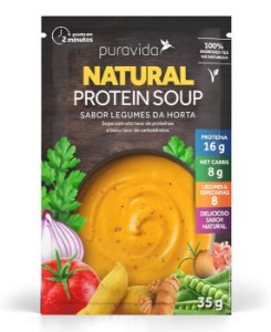 Puravida Natural Protein Soup - Sopa Instantânea Sabor Legumes da Horta 35g
