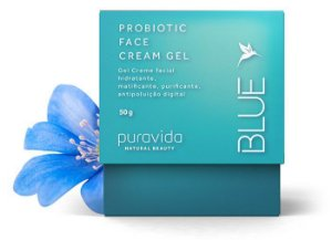 Puravida Gel Creme Facial Probiótico Blue 50g