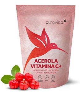 Puravida Acerola Vitamina C+ - Extrato em Pó Liofilizado 100g