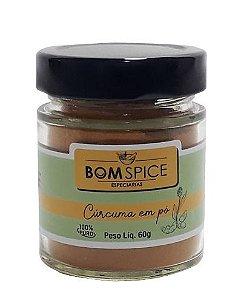 Bom Spice Cúrcuma em Pó Condimento Puro 60g