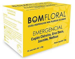 Bom Floral Chá Misto Emergencial (Capim Cidreira, Erva Doce, Jasmim e Melissa) em Sachê