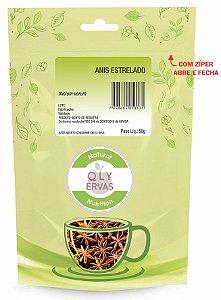QLY Ervas Chá de Anis Estrelado Fracionado 50g