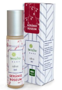 Terra Flor Roll-on Gerânio Roseum - Perfume Natural 8ml
