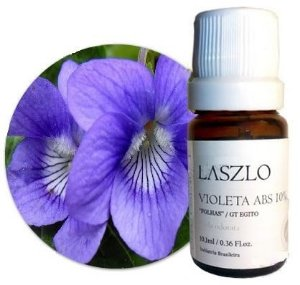 Laszlo Óleo Absoluto de Violeta Diluído 10% (Folhas) 10,1ml