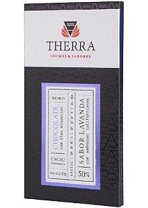 Therra Chocolate Gourmet 50% Sabor Lavanda Fina com Amêndoas 80g