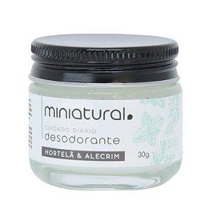 Miniatural Desodorante em Creme Hortelã e Alecrim 30g