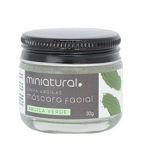 Miniatural Máscara Facial Argila Verde 30g