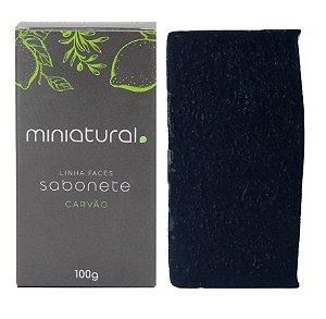 Miniatural Sabonete Carvão Vegetal Pele Oleosa e Mista 100g