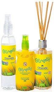 WNF Citrojelly Kit Repelente com Citronela - Loção Corporal + Difusor por Varetas + Spray Ambiente